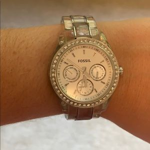 Clear Fossil Watch